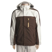 Descente DNA K-Fed Jacket - Heatflex 40 Insulation (For Men) in Chocolate/Stripe - Closeouts
