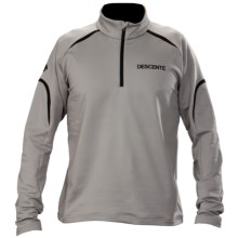 Descente Everest Thermal Top - Zip Neck, Long Sleeve (For Men) in Grey Silver - Closeouts