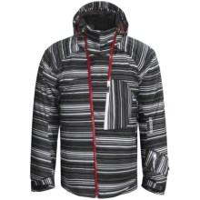 Descente Force Jacket - Insulated (For Men) in Black Print - Closeouts