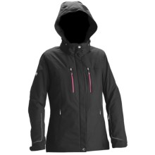 Descente Jane Ski Jacket - Waterproof, Insulated (For Women) in Blk/Maroon - Closeouts