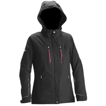 Descente Jane Ski Jacket - Waterproof, Insulated (For Women) in Blk/Maroon