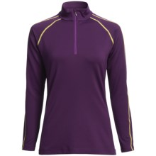 Descente Mary Ski Zip Turtleneck - Long Sleeve (For Women) in Amethyst/Primrose - Closeouts