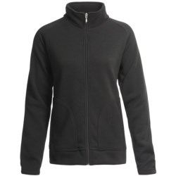 Descente Mid-Layer Fleece Jacket (For Women) in Black