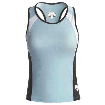 Descente Wave Tri Top - Sleeveless (For Women) in Sky - Closeouts