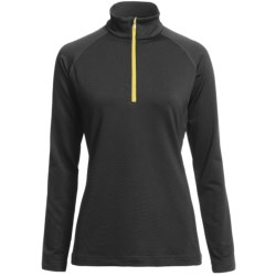 Descente Zoe Ski Zip Turtleneck - Long Sleeve (For Women) in Black/Primrose