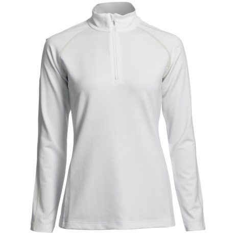 Descente Zoe Ski Zip Turtleneck - Long Sleeve (For Women) in Super White