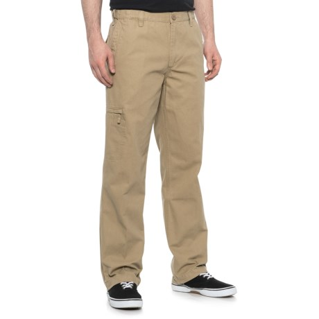 Desert Sand Canvas Comfort Cargo Pants (For