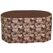 Design Expressions Water-Resistant Long Oval/Rectangular Table Cover in Metro Brown - Closeouts