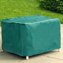 Design Expressions Water-Resistant Ottoman Cover in Green - Closeouts