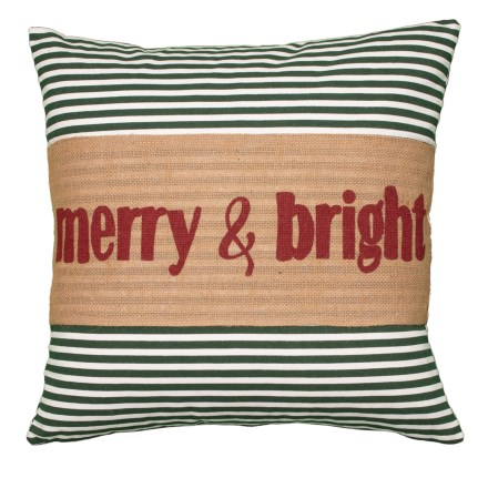 """dff16150169 Clearance. DESIGN SOURCE Striped merry   bright Throw Pillow - 20x20"""""""