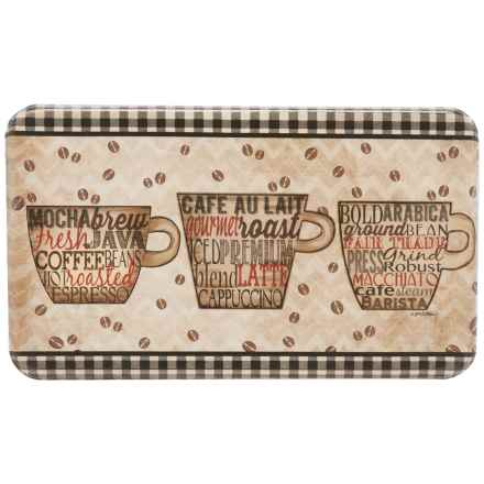 "Designer Chef Coffee Words Anti-Fatigue Kitchen Mat - 18x30"" in See Photo - Closeouts"