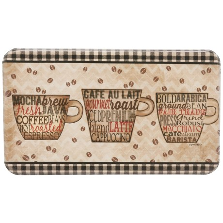 Designer Chef Coffee Words Anti Fatigue Kitchen Mat   18x30u201d In See Photo
