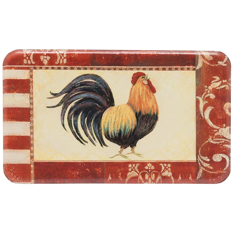 Designer Chef Rooster Anti Fatigue Kitchen Mat 18x30