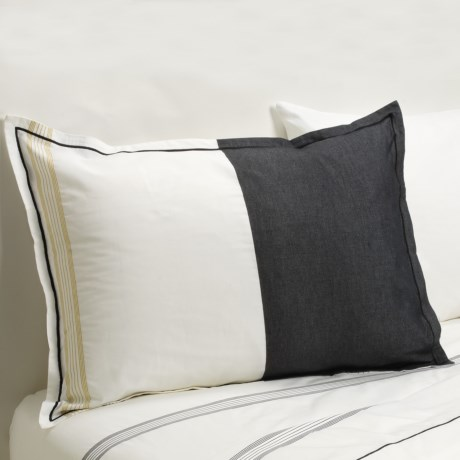Designers Guild Baratti Standard Pillow Sham - 200 TC Cotton Percale in Baratti