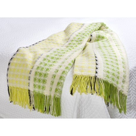 Designers Guild Brooksville Throw Blanket - Merino-Cotton in Lime