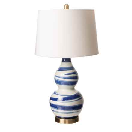 Brush Porcelain Lamp in Blue/White/White - Closeouts