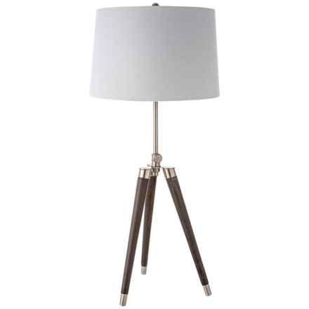 Driftwood Adjustable Tripod Table Lamp in Brown/White - Closeouts