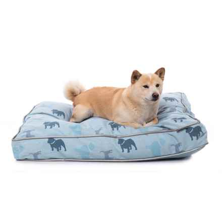 "Details Ticking Stripe Printed Dog Bed - 35x26"" in Blue - Closeouts"