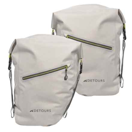 Detours Bike Panniers - Set of 2 in Glacier Grey - Closeouts