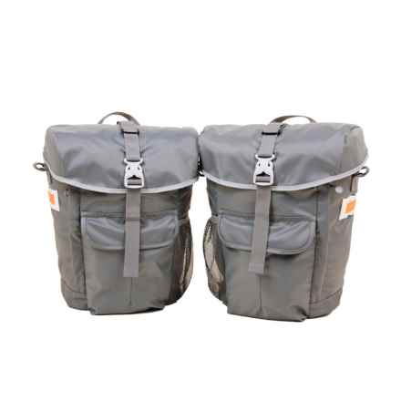Detours Interlaken Pannier Set in Gray - Closeouts