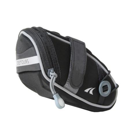 Detours Wedgie Seat Bag - Medium in Black Nylon