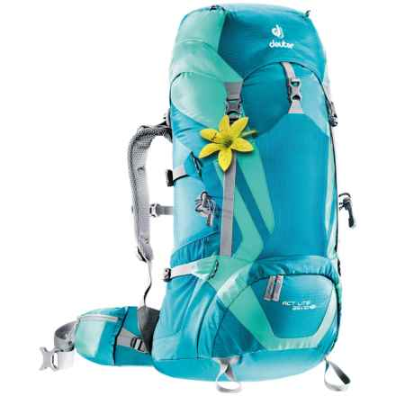Deuter Act Lite 35+10 SL Backpack - Internal Frame (For Women) in Petrol/Mint - Closeouts