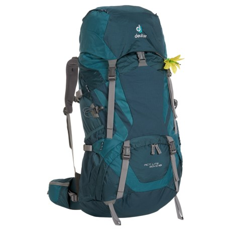 Deuter ACT Lite 60+10 SL Backpack - Internal Frame (For Women) in Artic/Denim