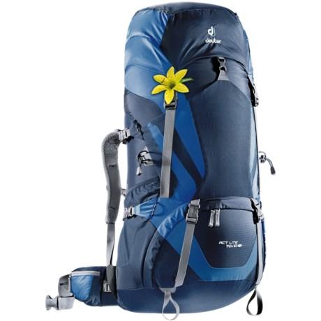 Deuter ACT Lite 70+10 SL Backpack - Internal Frame (For Women) in Midnight/Ocean