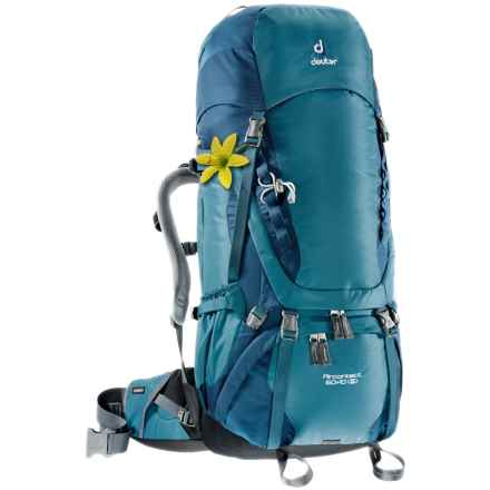 Deuter Aircontact 60+10 SL Backpack - Internal Frame (For Women) in Denim/Midnight - Closeouts