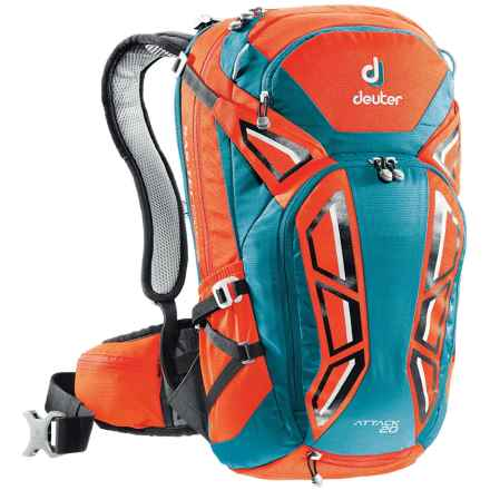 Deuter Attack 20 Backpack in Papaya/Petrol - Closeouts