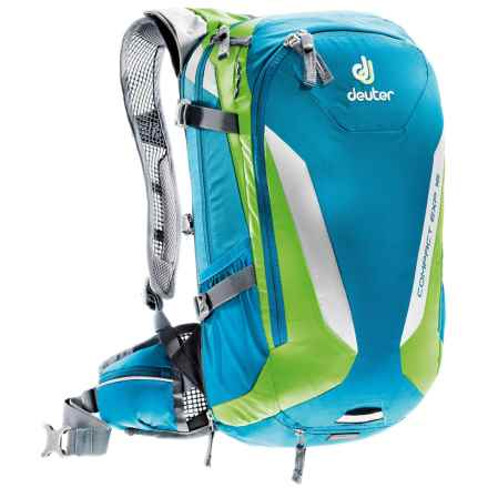 Deuter Compact EXP 16 Hydration Pack - 100 fl.oz., Internal Frame in Petrol/Kiwi - Closeouts