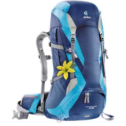 Deuter Futura Pro 34 SL Backpack - Internal Frame (For Women) in Midnight/Turquoise - Closeouts