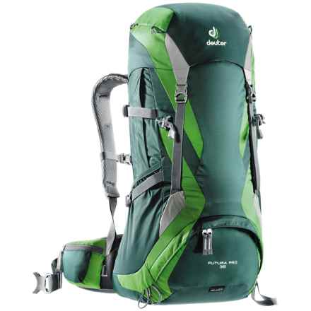Deuter Futura Pro 36+10 Backpack - Internal Frame in Forest/Emerald - Closeouts