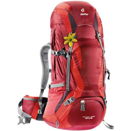 Deuter Futura Vario 45+10 SL Backpack - Internal Frame (For Women) in Cranberry/Fire - Closeouts