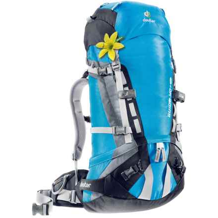 Deuter Guide 40+ SL Backpack - Internal Frame (For Women) in Turquoise/Black - Closeouts