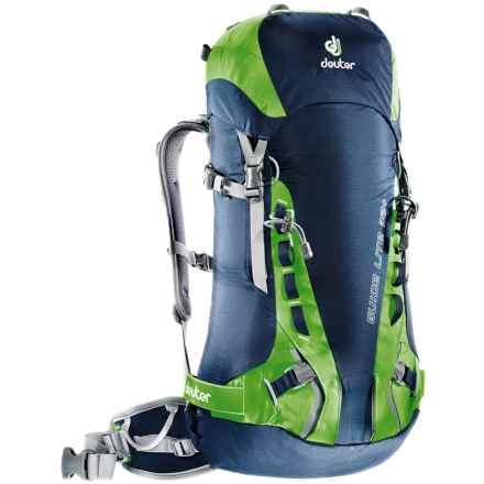 Deuter Guide Lite 32+ Backpack - Internal Frame in Midnight/Kiwi - Closeouts