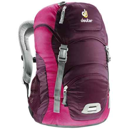 Deuter Junior Backpack (For Little and Big Kids) in Aubergine/Magenta - Closeouts