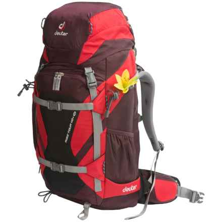 Deuter Rise Tour 40+ SL Winter Backpack - Internal Frame (For Women) in Aubergine-Fire - Closeouts