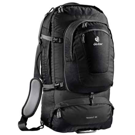 Deuter Transit 50 Backpack - Internal Frame in Black/Anthracite - Closeouts
