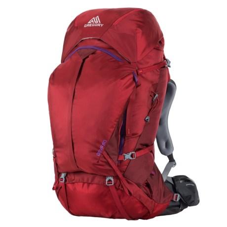 Deva 60L Backpack - Internal Frame (For Women) - RUBY RED ( )