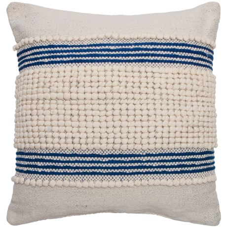"""Devi Clyde Textured Stripe Throw Pillow - 20x20"""" in Natural Navy"""