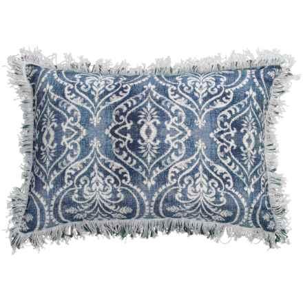 """Devi Designs Aira Chabori Decor Pillow - 14x20"""" in Blue/White - Closeouts"""