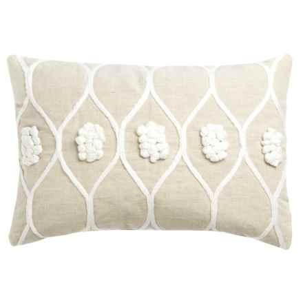"Devi Designs Angelina Decor Pillow - 14x20"" in Natural - Closeouts"