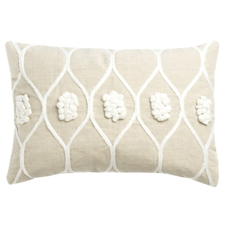 "Devi Designs Angelina Decor Pillow - 14x20"" in Natural"