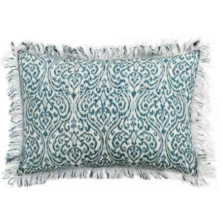 """Devi Designs Batina Chabori Decor Pillow - 14x20"""" in Blue/White - Closeouts"""