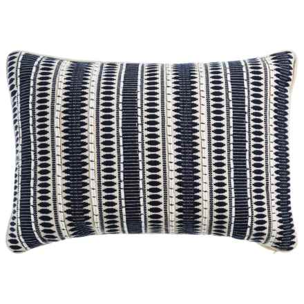 "Devi Designs Bradley Striped Decor Pillow - 14x20"" in Navy - Closeouts"