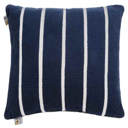 "Devi Designs Highrise Decor Pillow - 24x24"" in Natural Stripe - Closeouts"