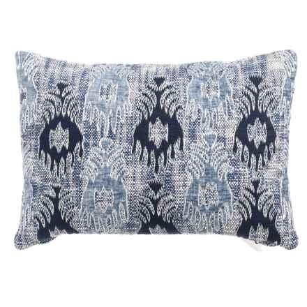 "Devi Designs Lanny Applique Decor Pillow - 14x20"" in Navy Light Blue - Closeouts"