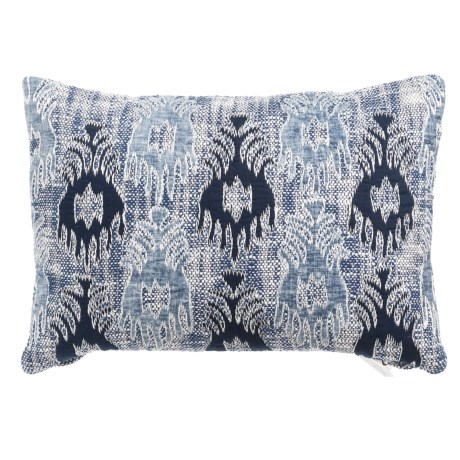 "Devi Designs Lanny Applique Decor Pillow - 14x20"" in Navy Light Blue"