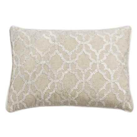 """Devi Designs Raffia Decor Pillow - 14x20"""" in Natural - Closeouts"""